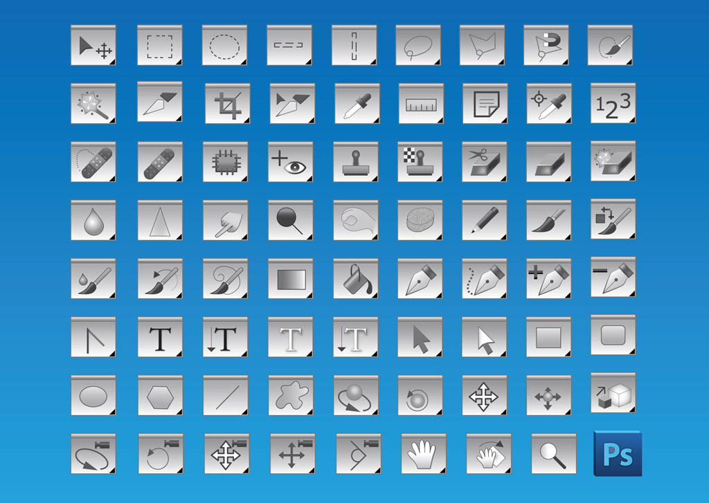 10 Photoshop Vector Icon Images