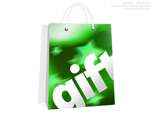 11 PSDs Gift Bag Images