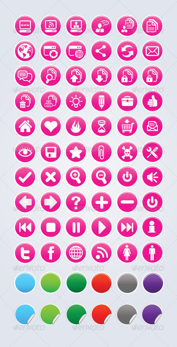 13 Pink Icon Set Images