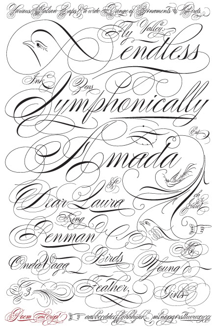 25 cool cursive tattoo fonts