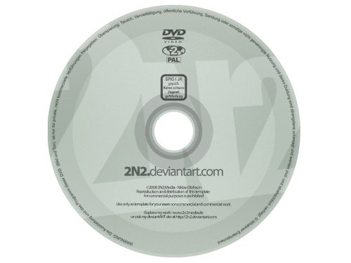 PSD Templates CD DVD Label