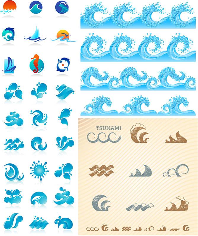 15 Ocean Waves Vector Free Images