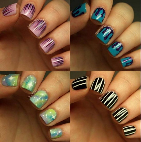 15 Simple Short Acrylic Nails Designs Images , Short Acrylic