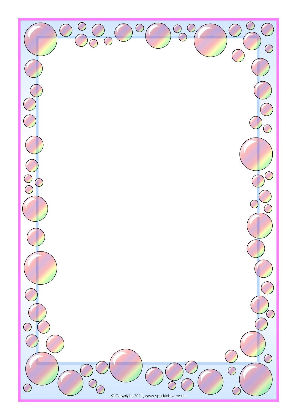 12 Simple Border Design Paper Images - Flower Border ...
