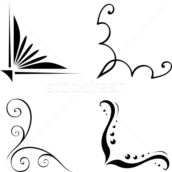 Line Art Corner Design : Simple corner border designs with lilies images