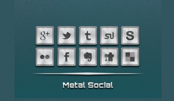 Social Media Icon Set PNG