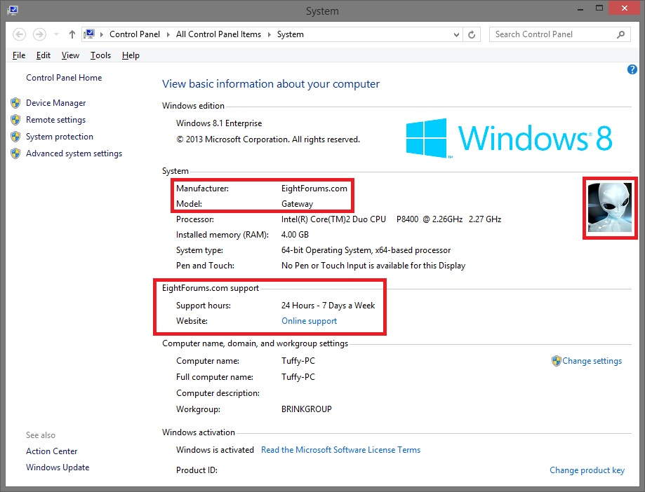 System Information Windows 8.1