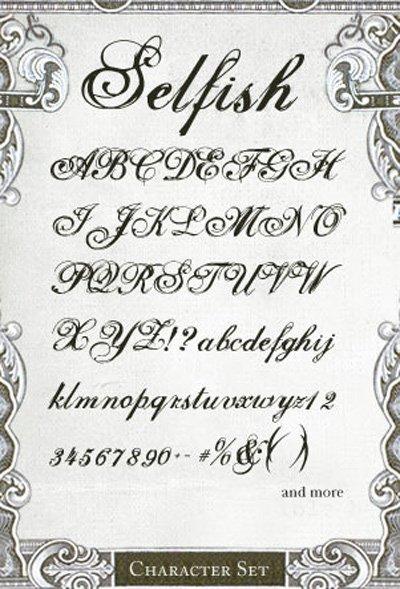 Tattoo Script Font Alphabet