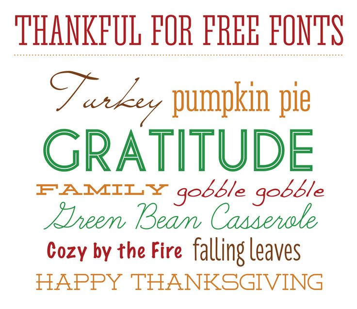 Thanksgiving Fonts Free Download