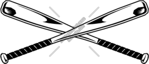 Vector Baseball Bat Clip Art