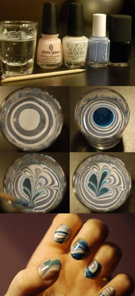 Water Marble Nail Polish Tutorial