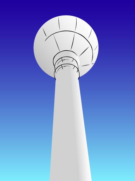 Water Tower Clip Art
