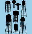 Water Tower Silhouette Vector