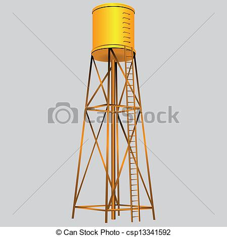 Water Tower Vector Art