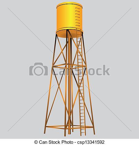 Water Tower Vector Art
