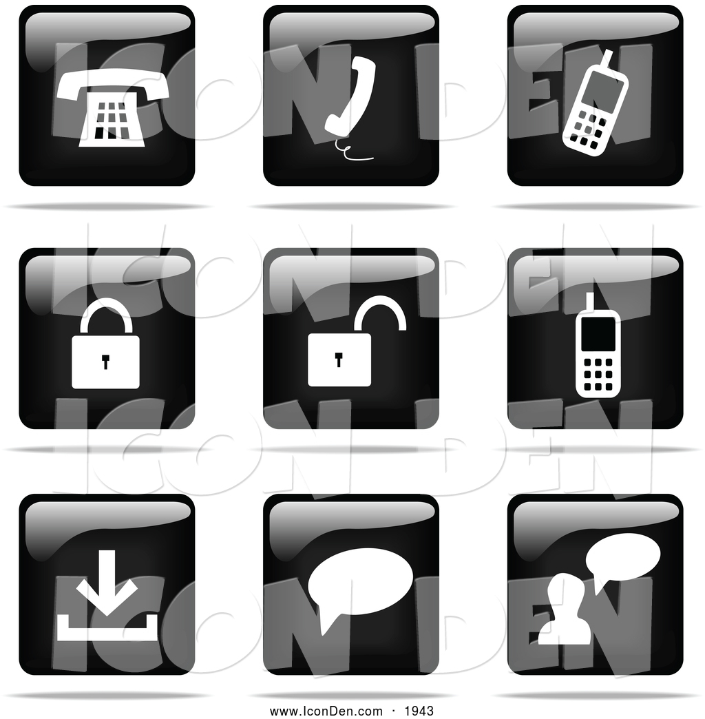 Website Icon Black and White