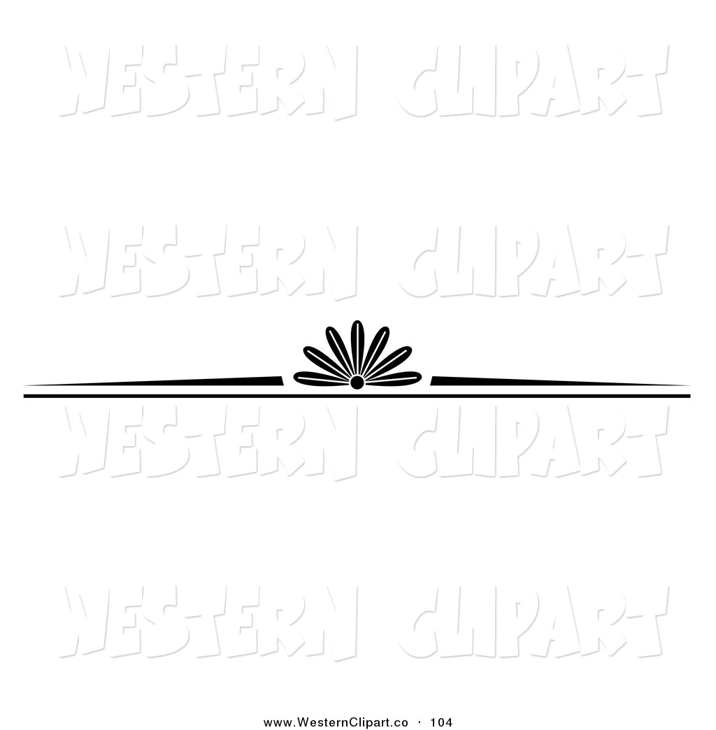 Western Clip Art Black and White