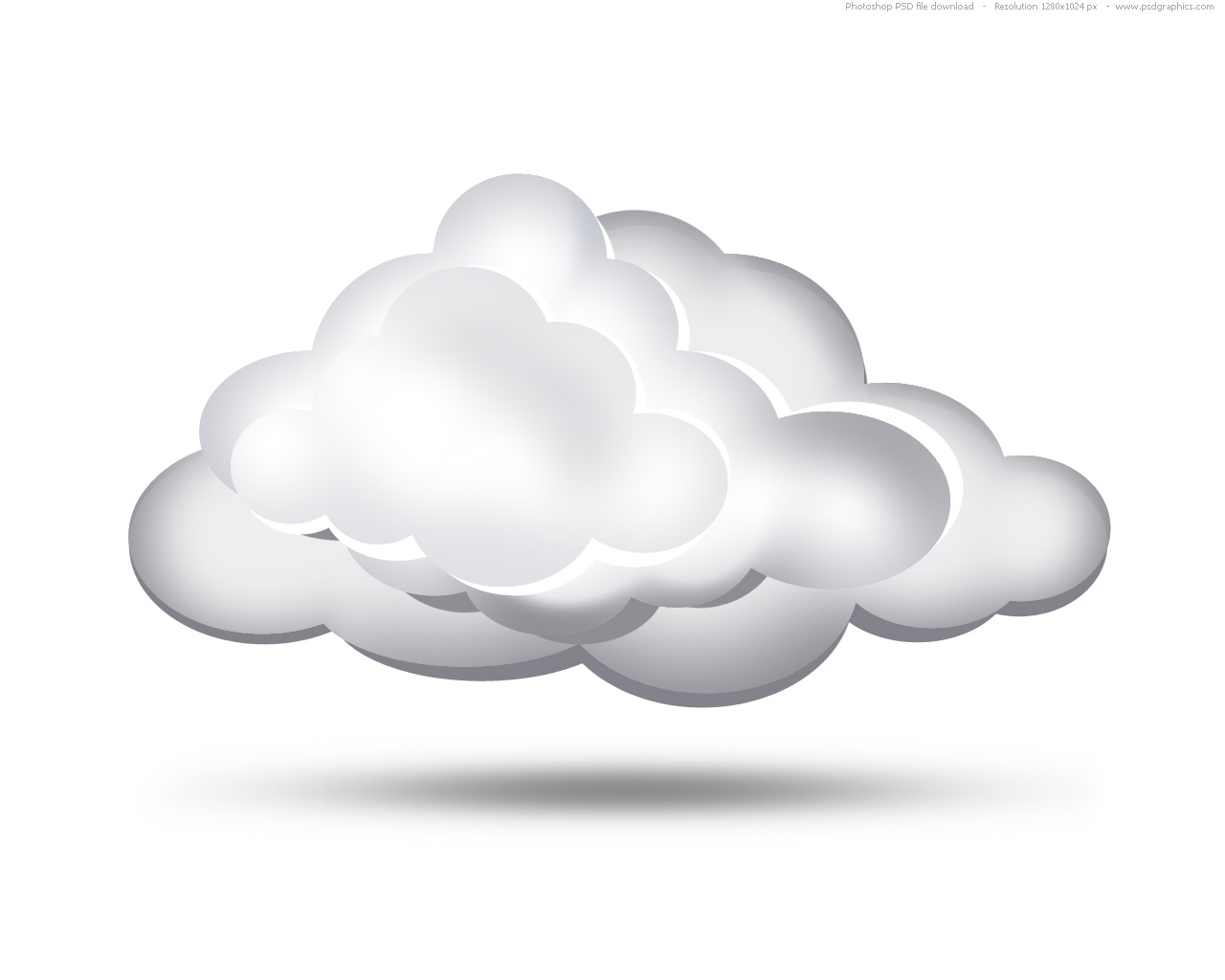 7 Cloud Vector Graphics PSD Images