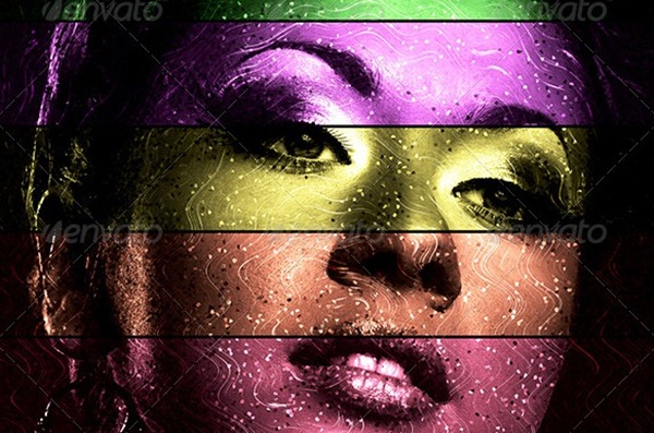 6 Technicolor Photoshop Actions Images