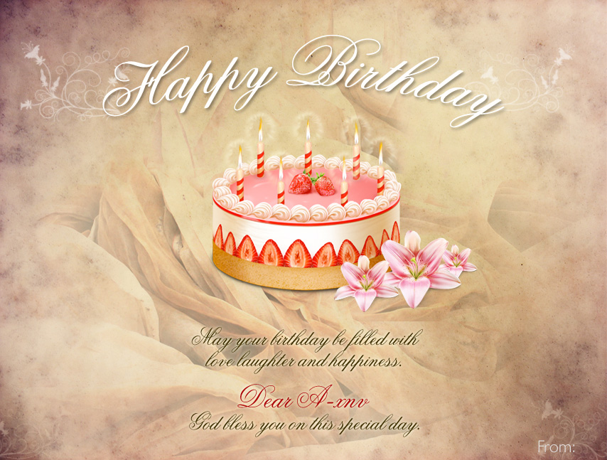 Birthday Day Cards gangcraftnet – Birthday Card Psd