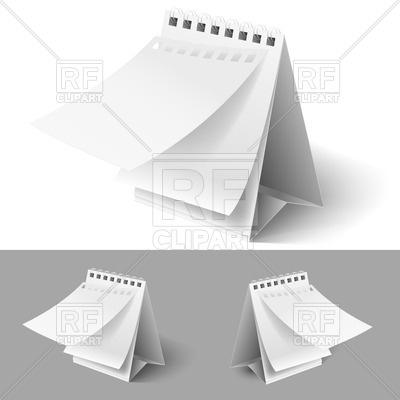 Blank Flip Calendar Clip Art