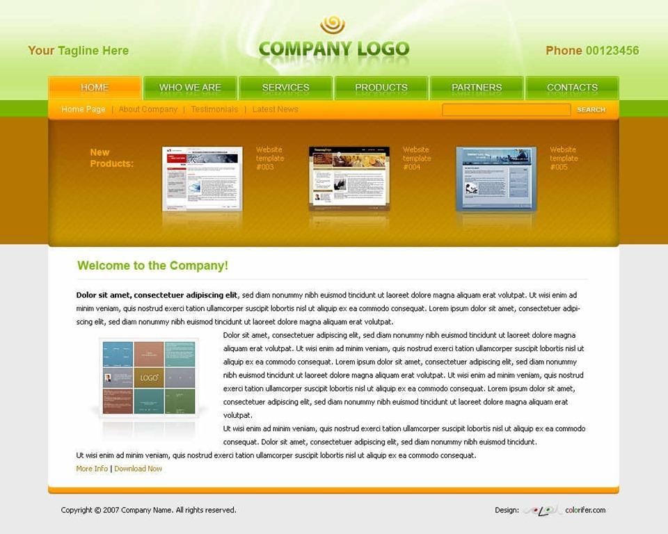 19 PSD Web Templates Images