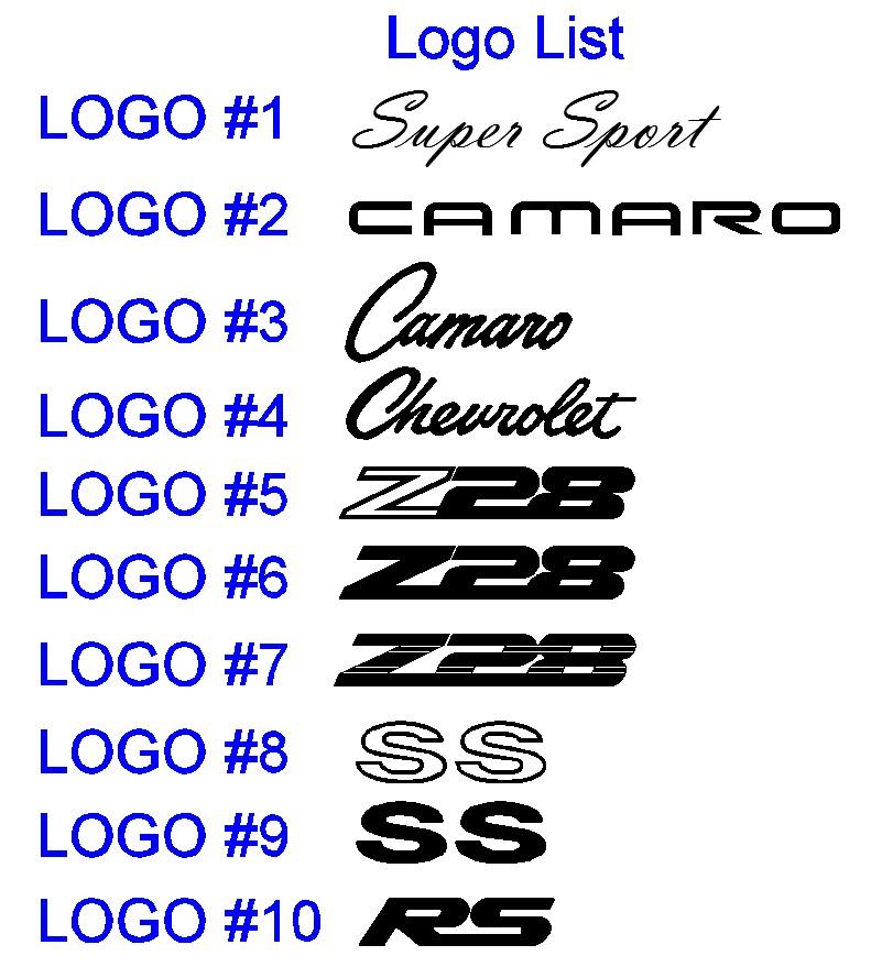 13 Camaro Logo Font Images