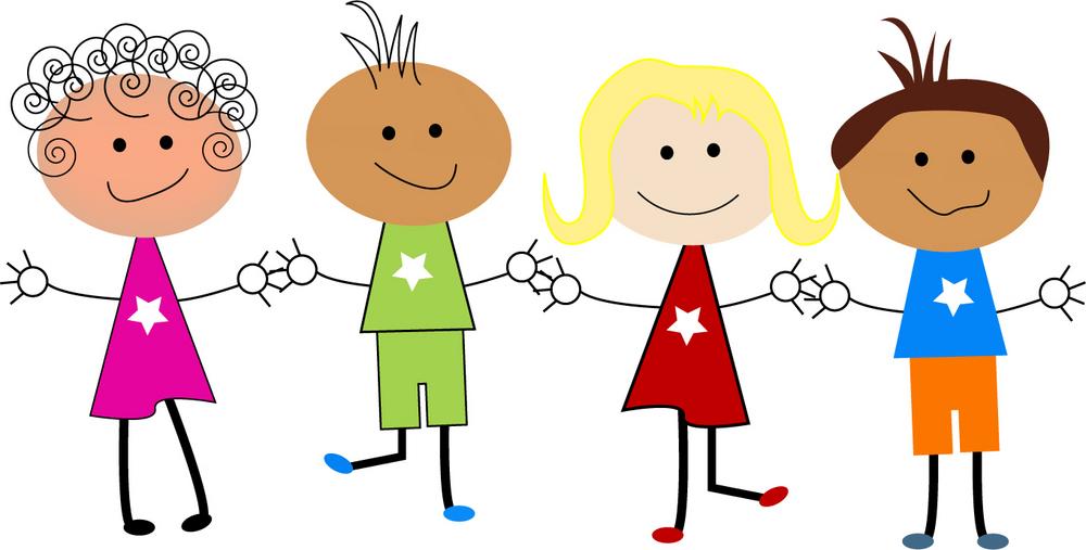 Cartoon Kids at School