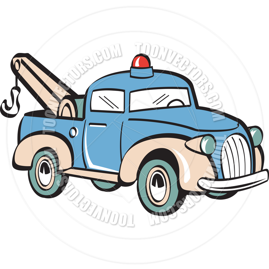 5 Tow Truck Vector Clip Art Images