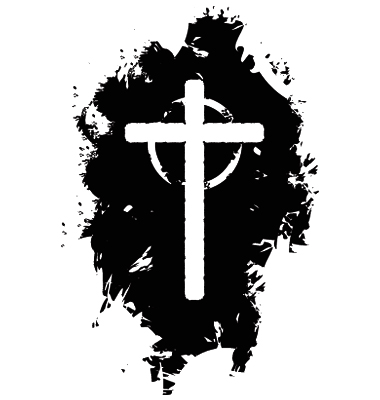8 Grunge Cross Vector Images