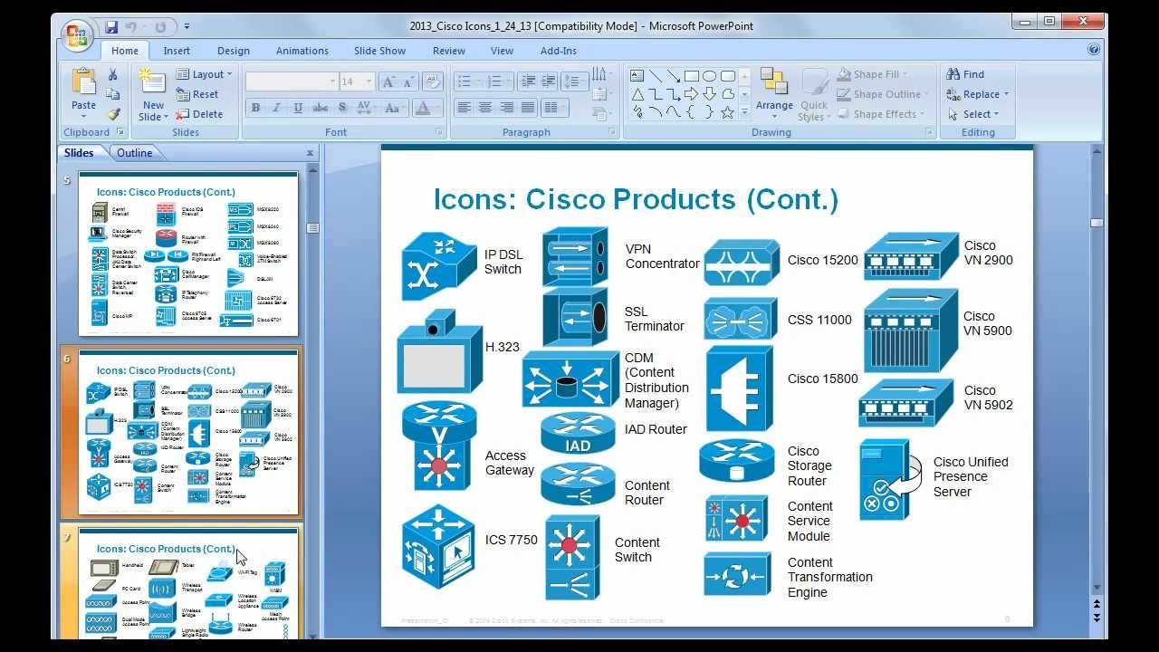 14 PowerPoint Network Diagram Icons Images - Cisco Network