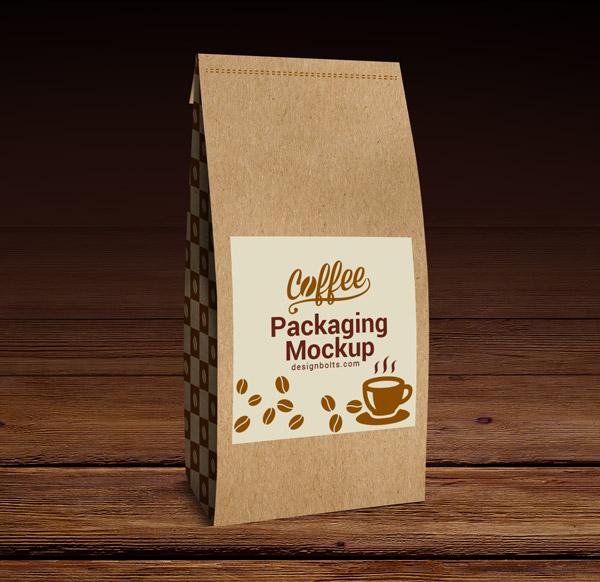Coffee Packaging Mockup PSD