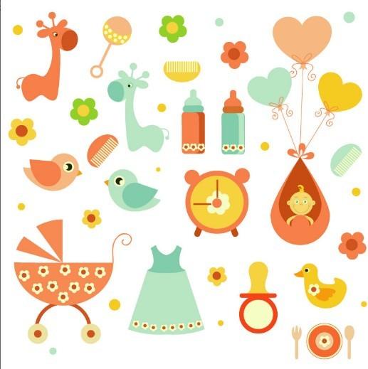 Cute Cartoon Baby Icon