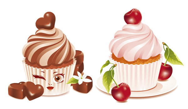 16 Dessert Vector Art Images