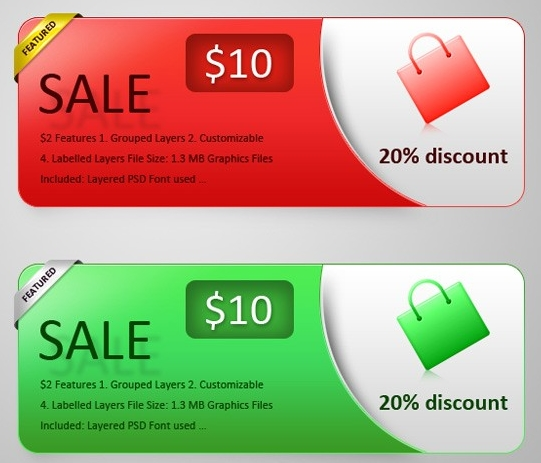 Download Free PSD Web Banners