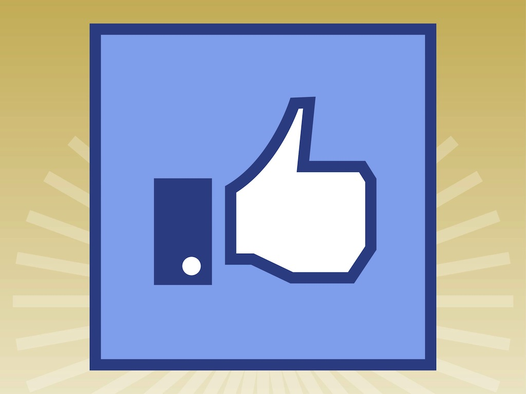 10 Like Us On Facebook Vector Images