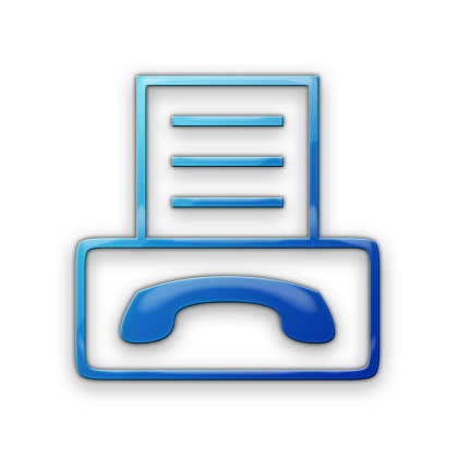 15 Blue Fax Icon Images