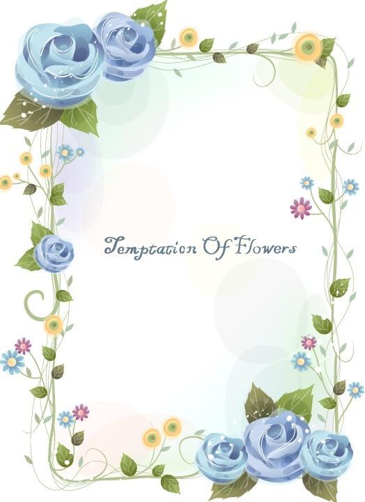 12 Flower Frame Border Design Images