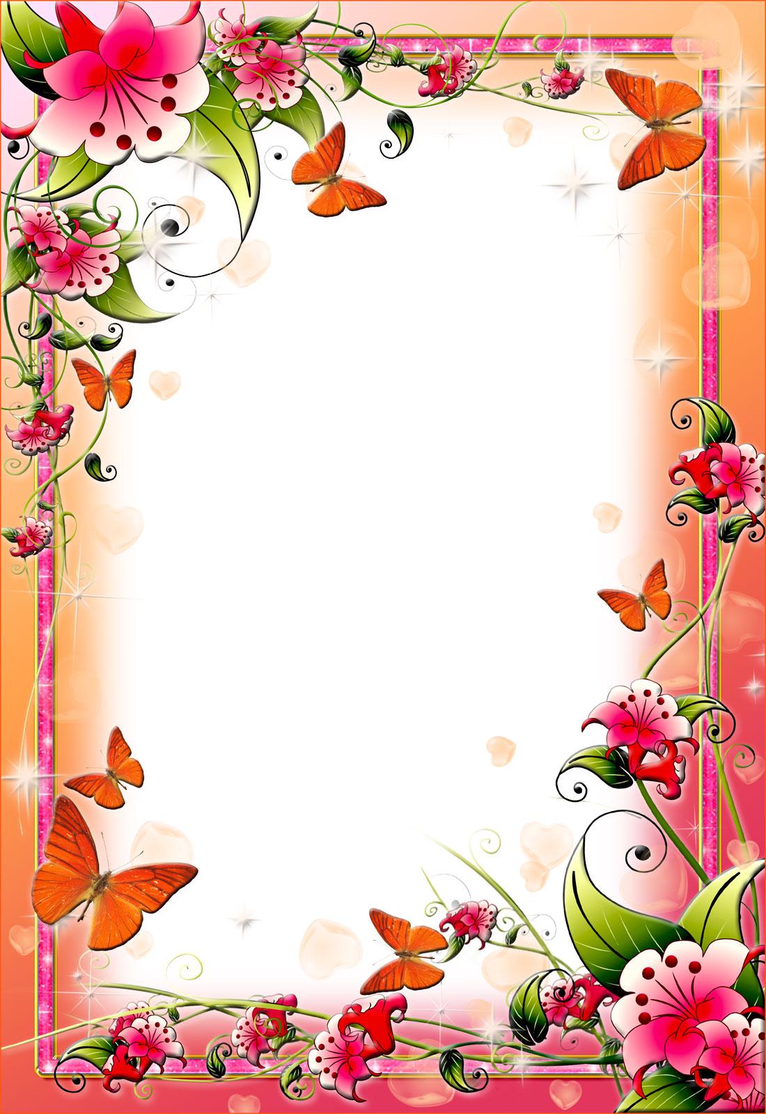 12 flower frame border design images flower border