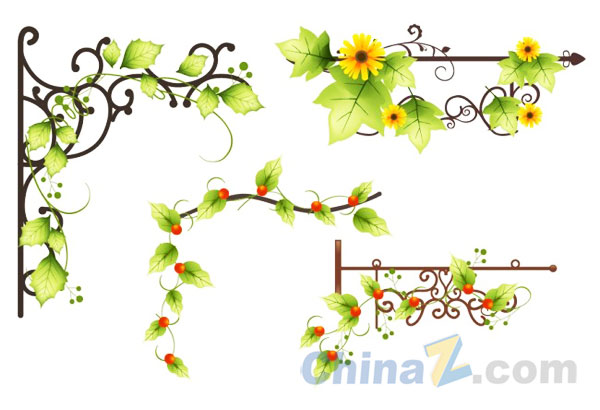 19 Vector Vine Plant Images - Green Leaf Vine Vector ...