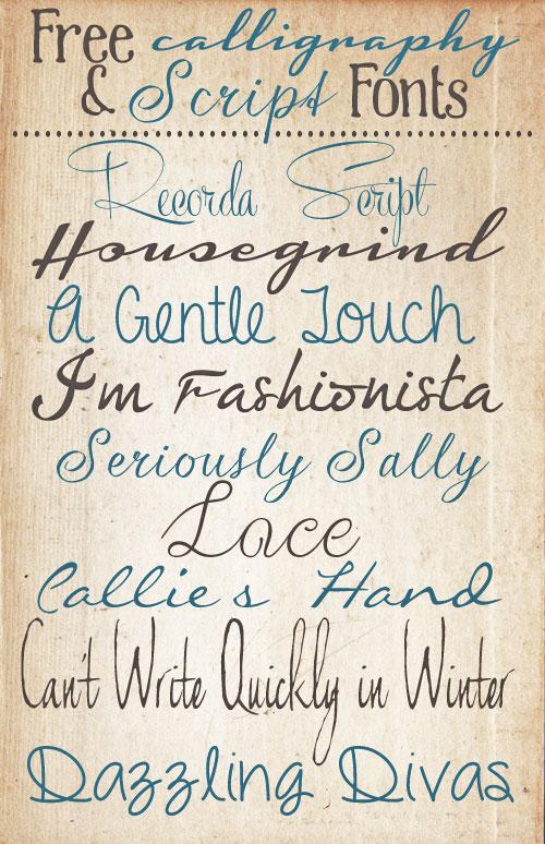 14 Modern Handwriting Script Font Free Images ...