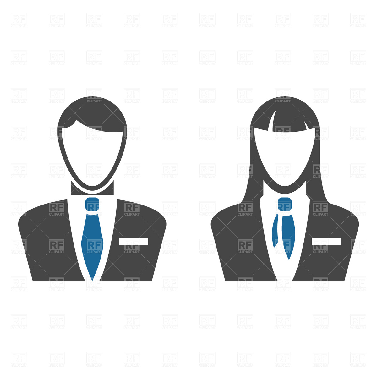 Free Clip Art Business People Icon
