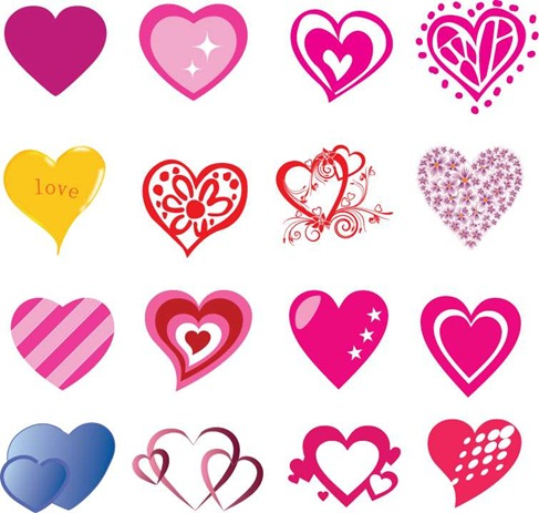 9 Free Vector Valentine Hearts Images