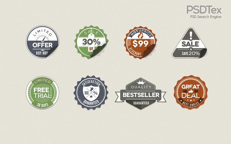 Free Vintage Badges