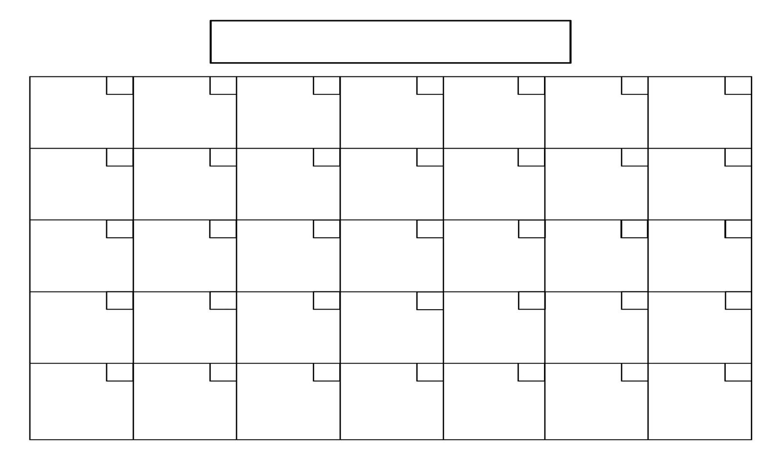 Full Size Blank Printable Calendar