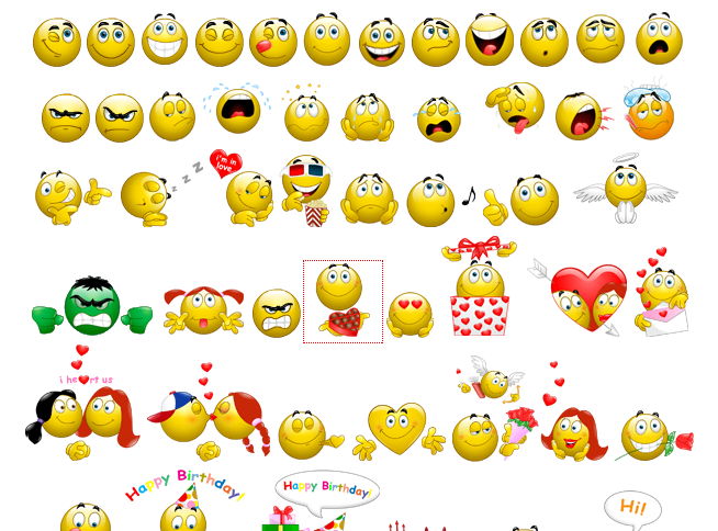 12 Animated Emoticons List Images