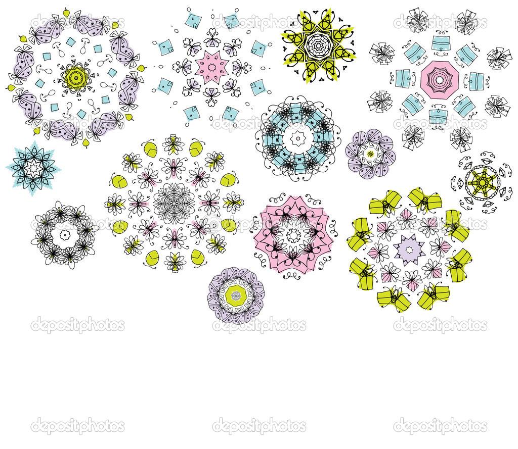 Geometric Flower Designs