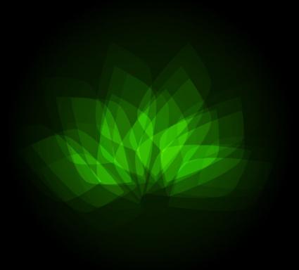 Geometric Neon Green Graphic