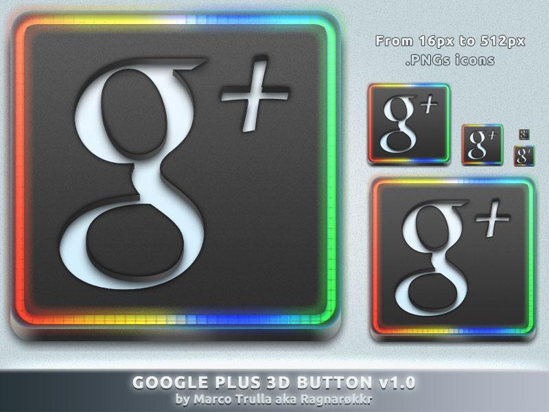 Google Plus Button 3D