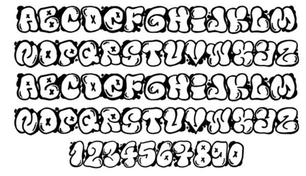 14 Cool Fonts AZ Images - Cool Hand Drawn Letter Fonts, Graffiti